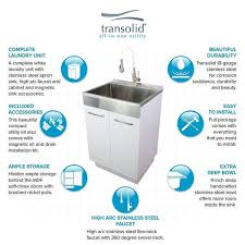 kitchen sink and cabinet unit transolid tcam 2420 ws 24 in x 20 in x 34 6 laundry sink