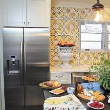 backsplash for yellow kitchen yellow mosaic kitchen backsplash design ideas