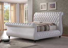 Luxury Bed Frame Harrods White Real Leather Bed Frame Luxury Bed Frames