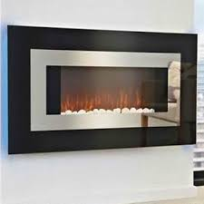 Electric Fireplace Heater Electric Fireplace Heaters With Black Curved Glass Panel And Blue