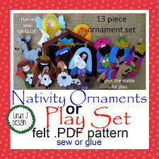 felt nativity playset or ornaments for children pdf pattern