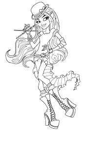 Barbie Halloween Coloring Pages Free Printable Monster High Coloring Pages For Kids