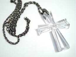 crystal cross pendant necklace images Waterford crystal christian cross pendant necklace 19 inch jpg