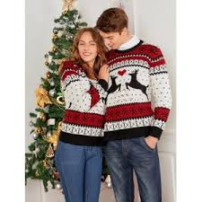 colormix one size reindeer two person sweater rosegal