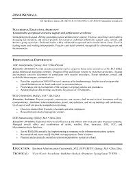 administrative assistant resume templates sle executive administrative assistant resume