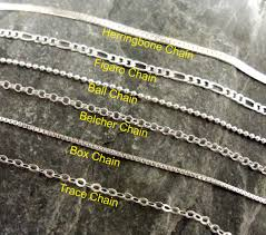 silver necklace types images Personalised treasures chain types to choose from types of gold jpg
