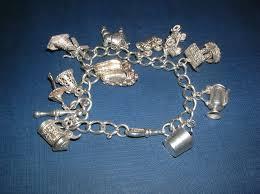 solid silver charm bracelet images Antiques atlas solid silver charm bracelet 11 charms jpg