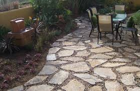 Natural Stone Patio Ideas Decor Stage Flagstone Walkway Rebuild Wall Natural Stone Steps And