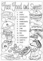15 best images of junk food worksheet printable healthy and junk
