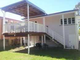 Handrails Brisbane Timber Deck Handrail And Stairs Flyover Patio Roof Brisbane