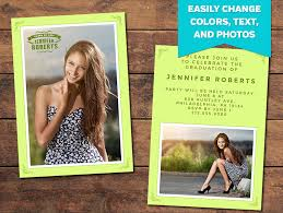 graduation photo announcements graduation announcements print templates green graduation