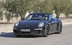 porsche targa 2016 scoop 2016 porsche 911 targa prototype could be a gts tester