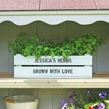 personalised window box planter crate by plantabox