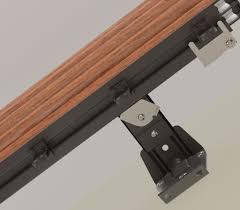 Decorative Double Traverse Curtain Rod by Check Out The Super Heavy Duty Components In The Wood Style