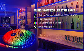 led strip lights are diffe from other ordinary strips it syncs with and illuminates accordingly 5050 led rgb lights create a