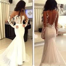 lolipromdress review 49 off white mermaid long sleeves zipper appliques prom dresses 2018