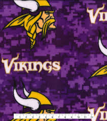 minnesota vikings fleece fabric 58