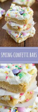 easter desserts confetti bars spring decorated