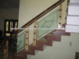 Glass Stair Banisters Least Price Glass Staircase Wooden Carving Banister Wooden Carving