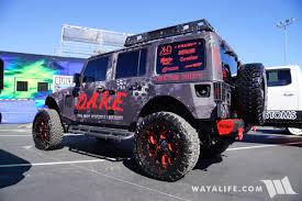 black jeep 2017 2017 sema rbp dare tribal police black jeep jk wrangler unlimited