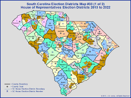the south carolina general assembly election districts map 33