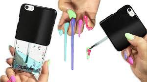 diy liquid glitter nail polish phone case youtube