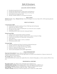 Resume Sample Management Skills by Resume Examples Presentation Skills Augustais