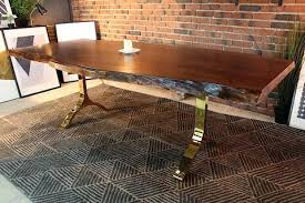 dining room tables near me live edge dining table acacia live edge dining table with gold y