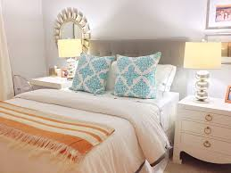 Bedroom Decorating Ideas Blue And Grey Bedroom Coral And Turquoise Bedding With Black Headboard And