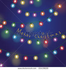strings holiday lights on black background stock vector 129827741