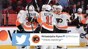 Flyers Meme - the flyers shared a funny meme inspired video after moving into 1st
