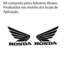 New MOTOS : Adesivo / Faixa Resinada Asa Honda do Tanque para Titan  @QI08