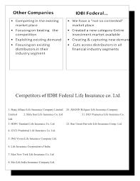 idbi federal life insurance co ltd