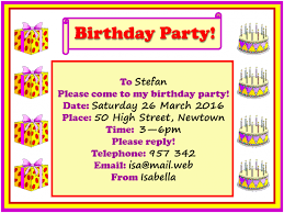 birthday party invitation learnenglish kids british council