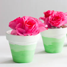 mini ombre painted flower pots an easy diy gift party favor or