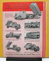 Vintage Ford Truck Brochures - ford truck v8 galion hydraulic hoists sales brochure