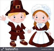 thanksgiving day graphics thanksgiving day pilgrim couple illustration