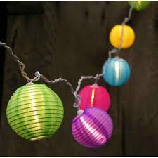 Patio Lights Walmart Set Of 10 Bright And Colorful Lantern Patio Lights