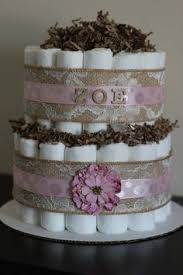 Shabby Chic Baby Shower Cakes by Rustic Shabby Chic Lamb Inspired Diaper Cake For Girls Baby
