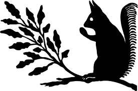 free silhouette images free squirrel silhouette clip art 36