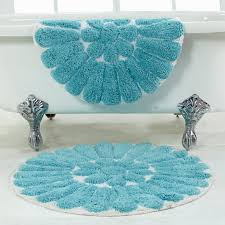 bursting flower 2 piece bath rug set 24