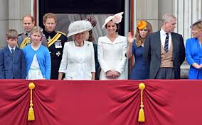 the royal family appear to the traditional fly past of