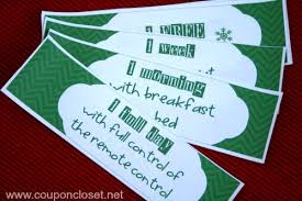 free christmas coupon book printables for mom and dad coupon closet