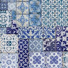muriva blue moroccan tiles wallpaper tile wallpaper moroccan