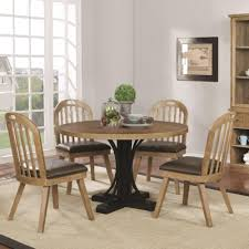 scott living bishop two tone round table and chair set coaster