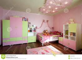 modern design of a child room interior in pastel colors nursery