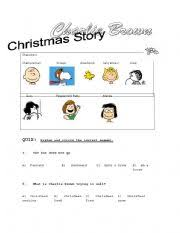 english worksheets charlie brown christmas story comprehension