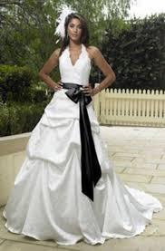 Black And White Wedding Dress The Wedding Gallery White Wedding Dress With Black Lace