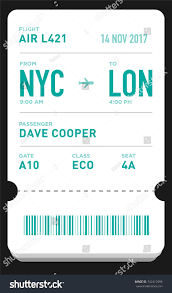 100 flight ticket template gift drink coupon template