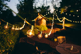 decorate your memorial day party with globe string lights
